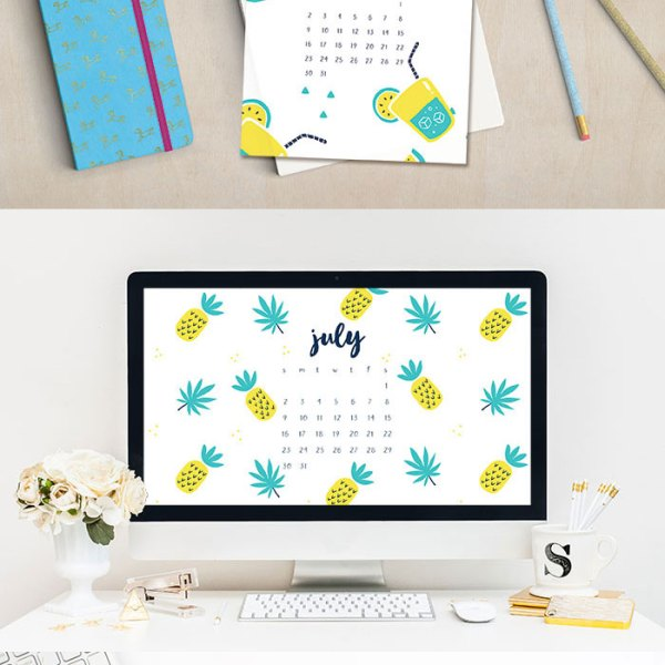 July 2017 Calendar Printables and Tech Pretties
