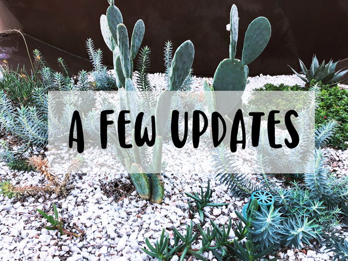 A Few Updates