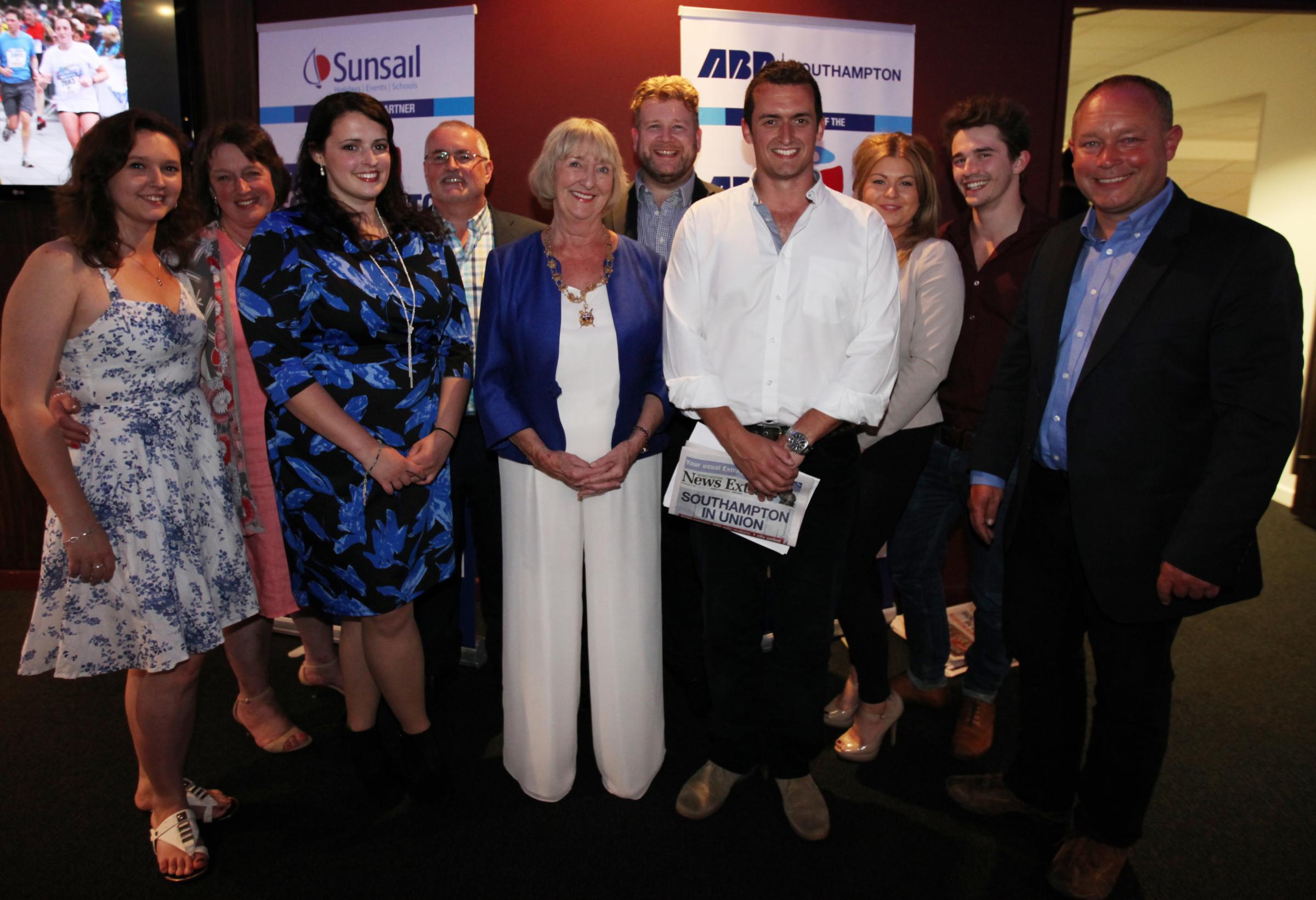 Southampton Mayor Linda Norris (centre) Chris Rees.
