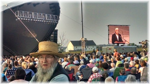 Amish photobomb at National Day of Prayer 5/7/15 (Photo by Mike Martin)