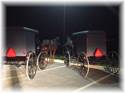 Amish at the movies in eastern Lancaster County PA 11/14/15
