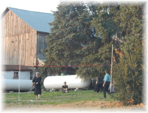 Amish badminton 5/3/15