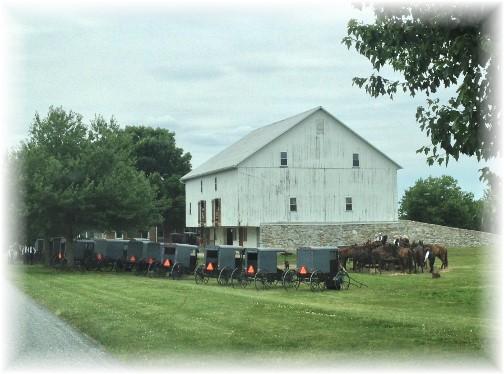 Amish church gathering 6/29/14