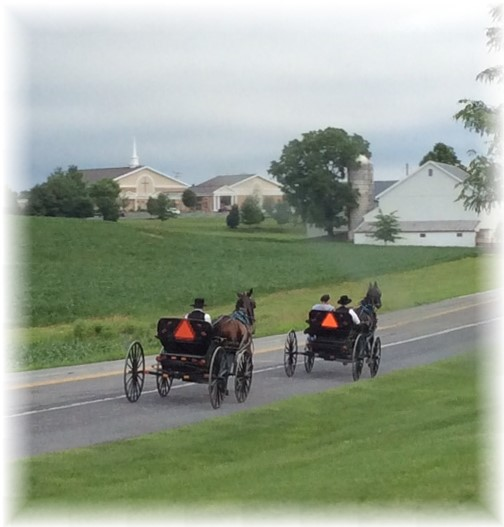 Amish church traffic 6/14/15 (Ester)