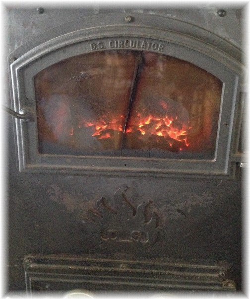 Coal stove in Amish farmhouse 2/25/15