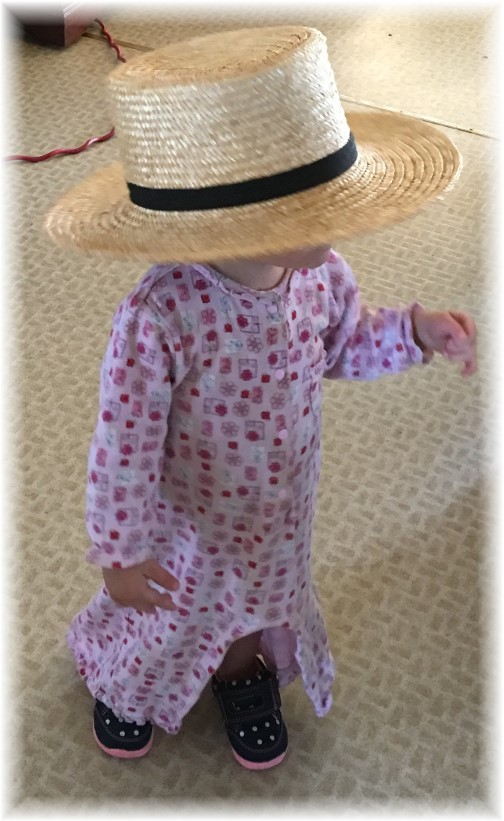 Amish girl with straw hat 11/10/16