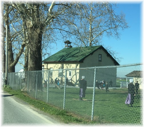 Recess at an Amish one room schoolhouse 4/14/16