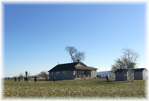 Amish school recess 11/17/16 (Click to enlarge)
