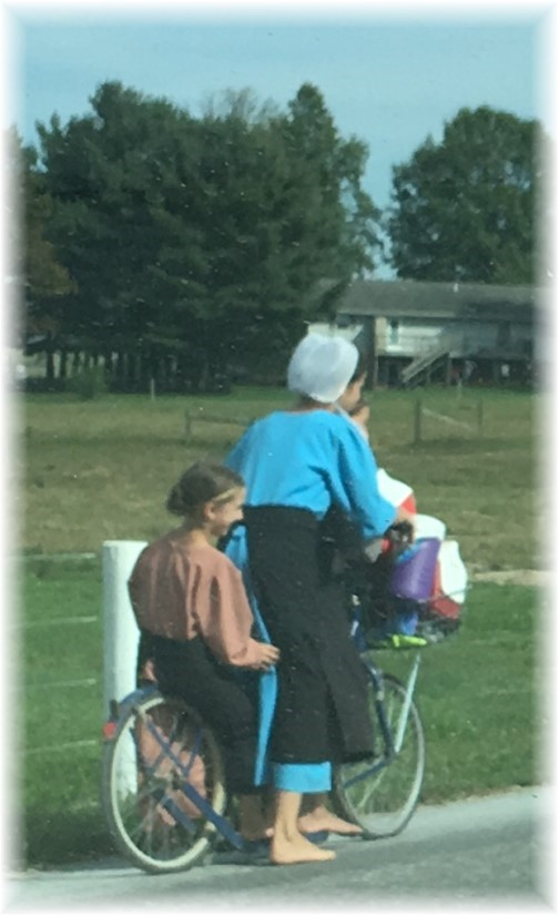 Amish on scooter 9/25/17