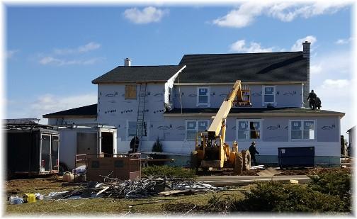 Amish home near White Horse, PA rebuilt ground up less than a week following tornado 3/2/16
