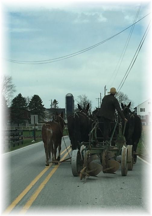 Lancaster County PA rural traffic 3/23/16