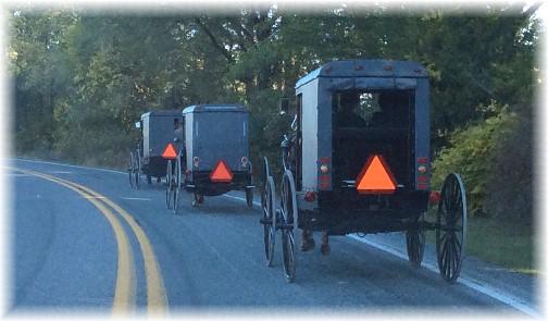 Amish church traffic 10/5/14