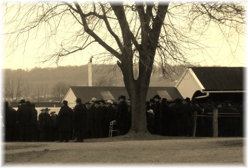 Old-order Mennonite funeral, Lancaster County, PA 1/16/14