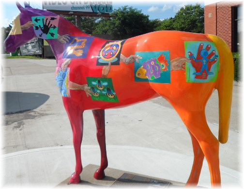 Painted horse near Frankfort, Kentucky