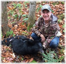 Phil Huber with bear