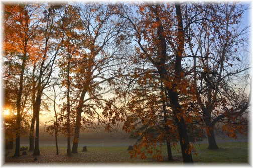 Autumn foggy scene in Lancaster County (Photo by Doris High)