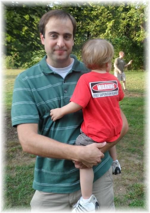 Doug and son at JK picnic 9/7/13