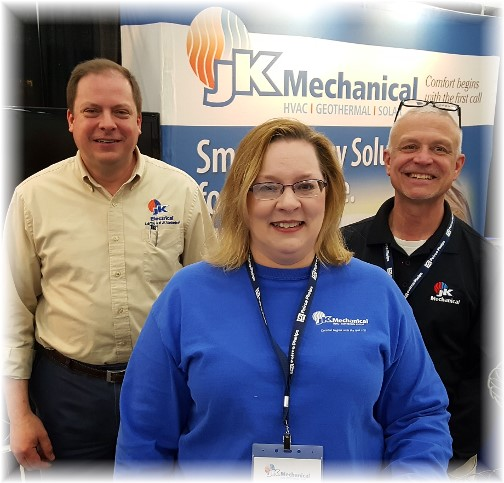 JK Mechanical sales team at Home Show 3/18/16