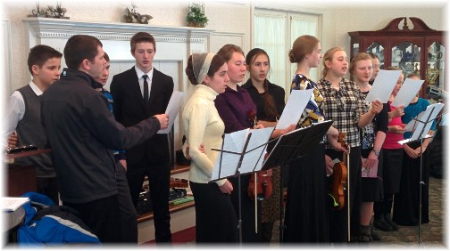 Russian youth singing at Longwood 2/22/15