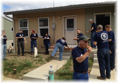 Habitat for Humanity crew at Val-Co Community Day 9/12/14