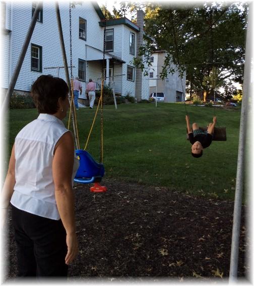 Brooksyne swinging Prentice 8/24/14