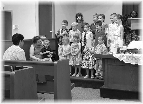 Children singing 6/5/16