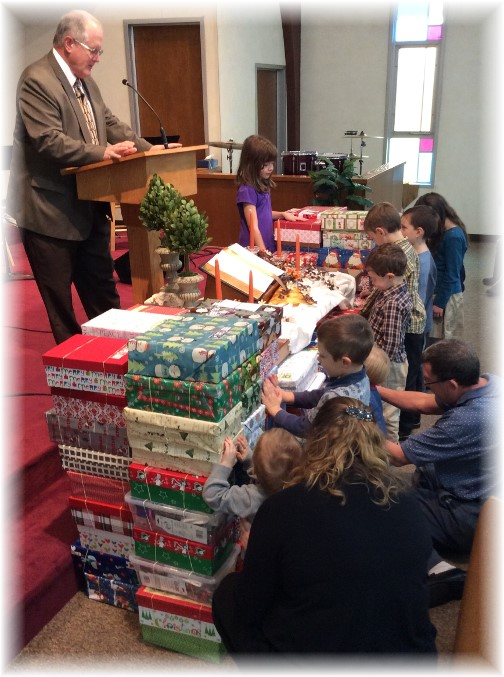 Operation Christmas Child box collection 11/16/14