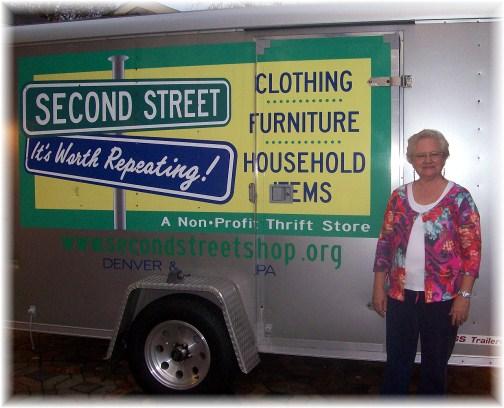 Debbie Hollinger with Second Street Shop 10/23/12