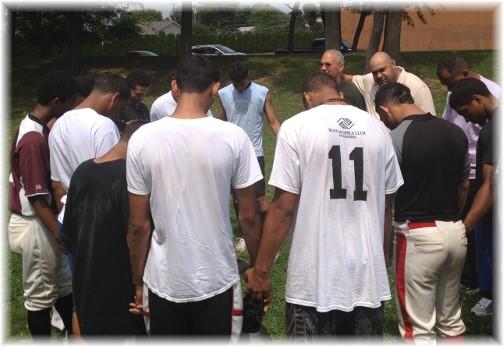 Faith Community prayer circle 7/27/14