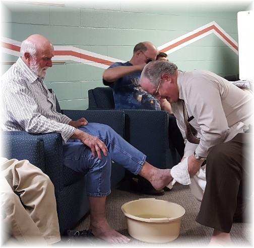 Footwashing service