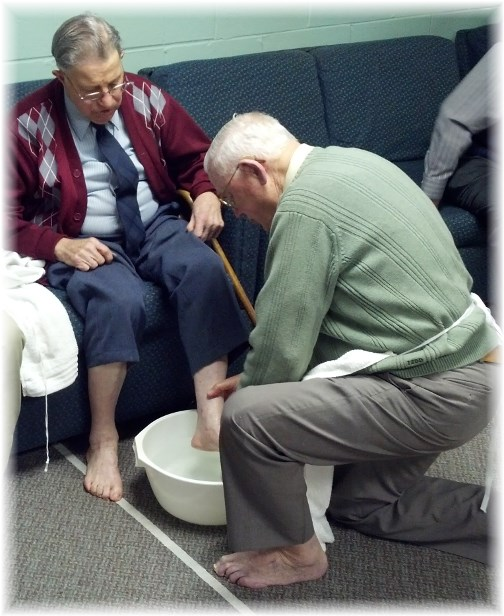 Footwashing service 03/28/13