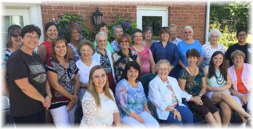 Ladies breakfast for Fran 8/22/15