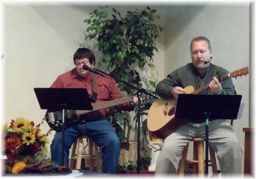 Mike Book, Arlin Buckwalter singing 10/21/12 Mount Pleasant