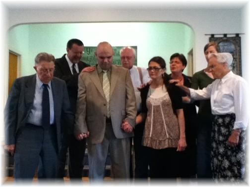 Prayer service for Wayne and Yvette