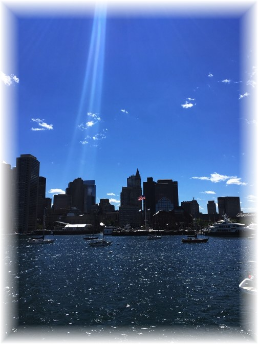 Boston city view from harbor (Photo by Ester) 6/14/16