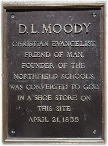 D.L. Moody plaque