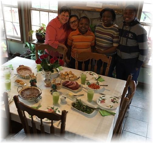 Easter dinner 3/27/16