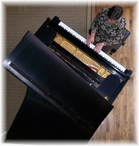 Brooksyne playing Steinway grand piano