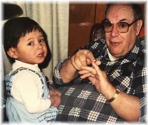 Ester with Eugene Clark Weber April 1992