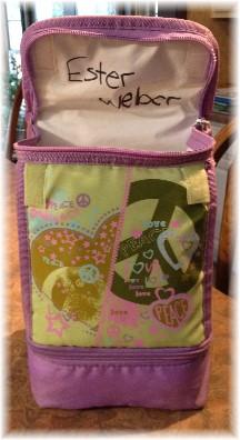 Ester's lunch bag