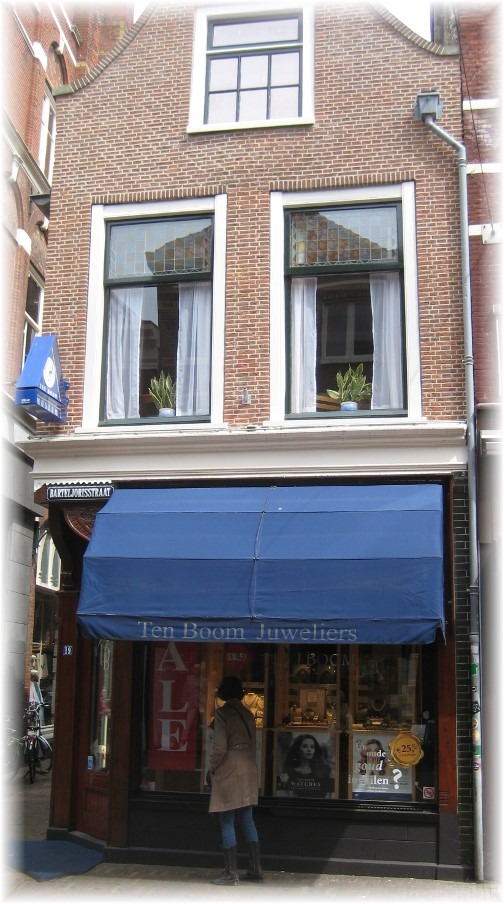 Front of Corrie ten Boom's home in Haarlem, Netherlands (photo by Dresselhaus)