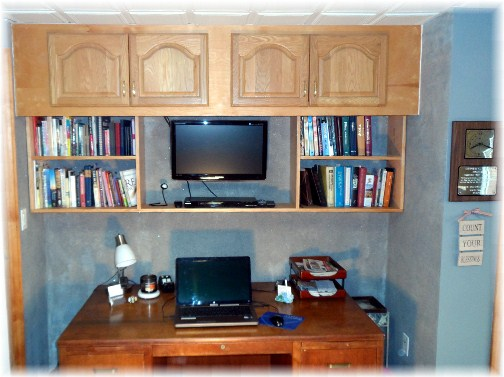 Brooksyne's desk with built in bookcase 11/22/12