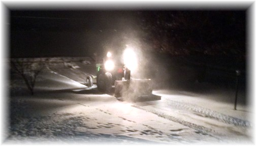 Clearing snow 1/21/14