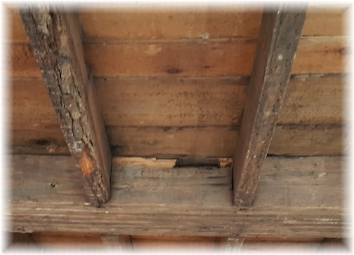 Lancaster City colonial home floor joists