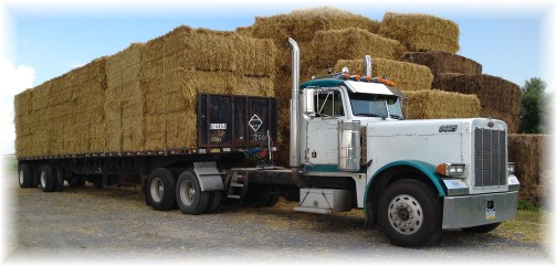 Hay truck in Lancaster County 6/27/14