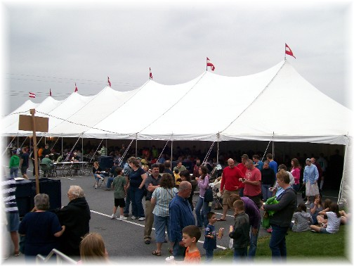 Kraybill auction tent