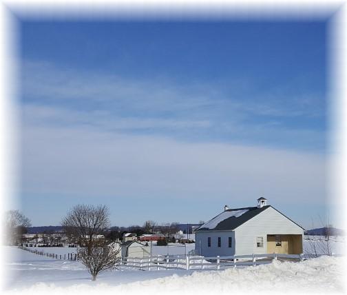Linden Grove Mennonite School in snow 1/27/16