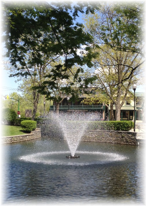 Fountain in Lititz PA 5/3/15