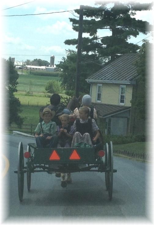Old order Mennonite wagon in Lancaster County 8/7/15