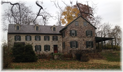 Poole Forge ironmasters mansion, Lancaster County, PA 11/13/14 (Click to enlarge)